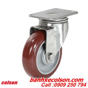 Bánh Xe Càng Inox 304 Nhựa Pu đỏ, Xoay Tải Trung Banhxecolson.com