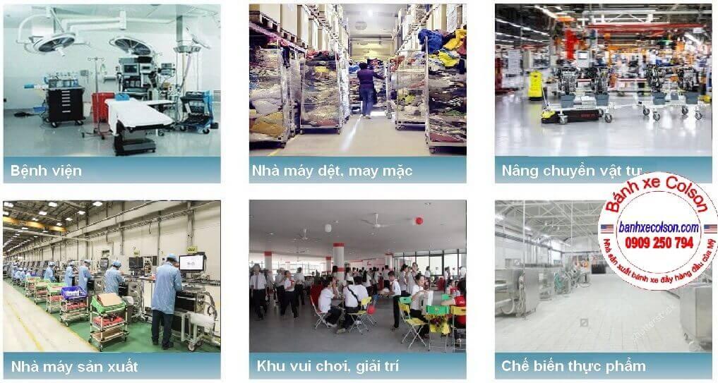 Bánh Xe đẩy Cao Su Dùng Cho Bệnh Viện, Dệt May, Nâng Chuyển Hàng Hóa Banhxecolson.com