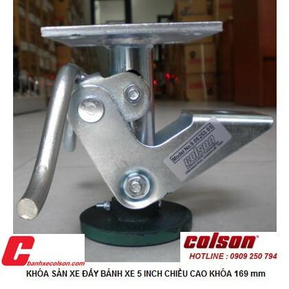 Khóa Sàn Xe đẩy Hàng Colson Chiều Cao 169 Banhxecolson.com