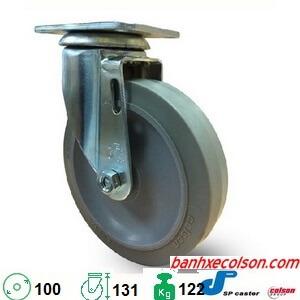 Bánh Xe đẩy Hàng Cao Su Càng Xoay 10cm S2 4256 Tpe Banhxecolson.com