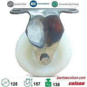 Bánh Xe đẩy Hàng Inox Nhựa Nylon D125 2 5408 254 Banhxecolson.com