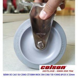 Giá Bánh Xe 125mm Cao Su Càng Bánh Xe Inox 304 2 5408 444 Banhxecolson.com