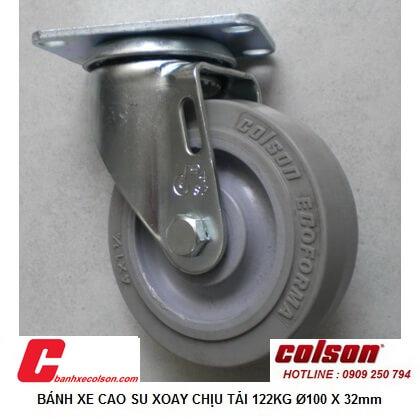 Hình ảnh Thực Tế Bánh Xe đẩy Hàng Cao Su Càng Xoay 10cm S2 4256 Tpe Banhxecolson.com