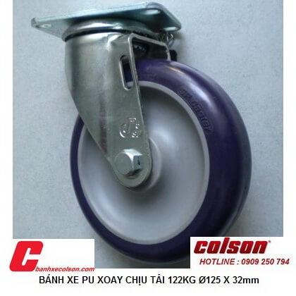 Mua Bánh Xe đẩy Xoay Nhựa Pu 125x32mm S2 5256 95p Banhxecolson.com