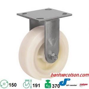 Bánh Xe Cố định 150mm (6in) Nhựa Nylon Trắng S4 6208 829 Banhxecolson.com