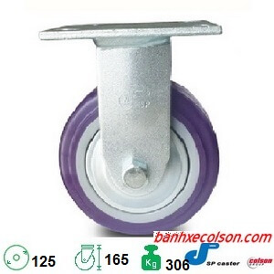Bánh Xe Cố định Pu 125 X 51mm Càng Thép S4 5208 925p Banhxecolson.com