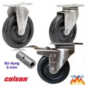 Bánh Xe Chịu Nhiệt Càng Inox 304 Colson Caster Mỹ Banhxecolson.com