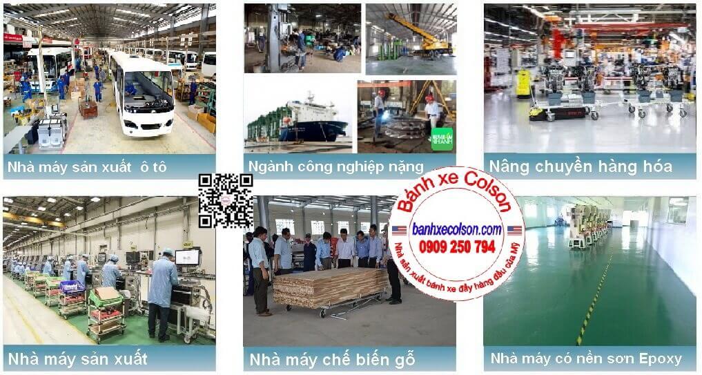 Bánh Xe Pu Lõi Gang Dùng Cho Ngành Công Nghiệp Nặng Banhxecolson.com