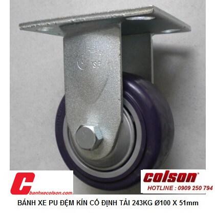 Hình ảnh Thực Tế Bánh Xe Pu 100x51 (4in) Có Nắp Che Càng đứng S4 4208 925p Banhxecolson.com