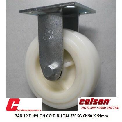 Hình Thực Tế Bánh Xe đẩy 125x51 Nhựa Nylon Càng Cố định S4 5208 829 Banhxecolson.com
