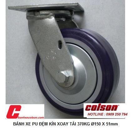 Hình Thực Tế Bánh Xe đẩy Chịu Tải 370kg Pu 6inch Xoay S4 6209 925p Banhxecolson.com