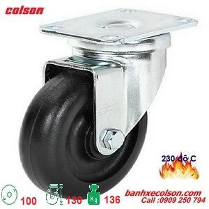 bánh xe càng xoay chịu nhiệt phi 100 càng thép 2-4646-53HT banhxecolson.com