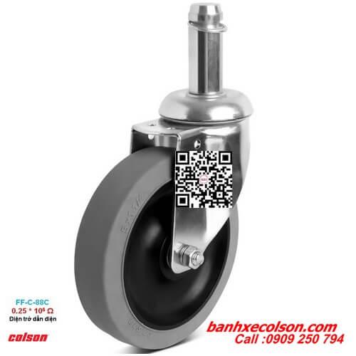 Bánh xe cao su chống tĩnh điện trục trơn 22mm banhxecolson.com