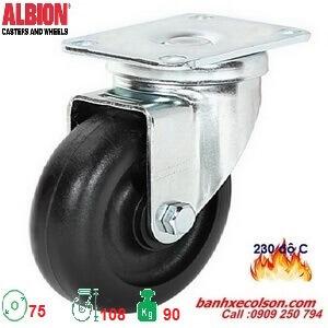bánh xe caster chịu nhiệt 230 độ phi 75 di động A2-3346-52HT banhxedaycolson.com