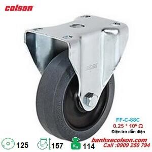 bánh xe dẫn điện 5 inch 0.25x10^6 Ohm càng cố định 2-5608-445C banhxecolson.com
