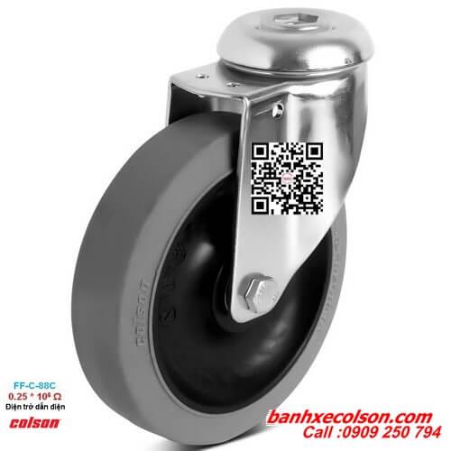 Bánh xe đẩy chống tĩnh điện lắp lỗ giữa Ø 12mm banhxecolson.com