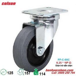 bánh xe đẩy dẫn điện phi 125mm càng xoay di động 2-5646-445C banhxecolson.com