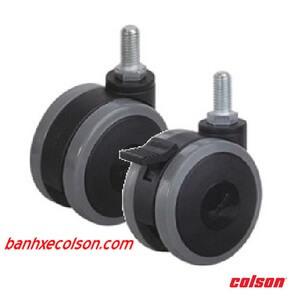 bánh xe đẩy đôi dùng cho nội thất, y tế, thiết bị điện tử banhxecolson.com