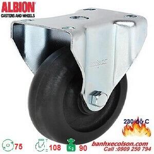 bánh xe đẩy loại nhỏ 75mm chịu nhiệt cố định A2-3308-52HT banhxecolson.com