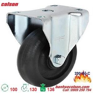 bánh xe trolley chịu nhiêt càng thép cố định d100 2-4608-53HT banhxecolson.com
