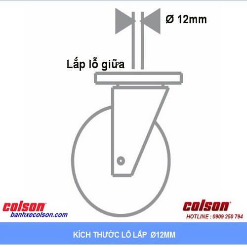 kích thước lỗ lắp bánh xe đẩy chống tĩnh điện banhxecolson.com