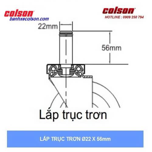 kích thước trục trơn bánh xe cao su chống tĩnh điện banhxecolson.com