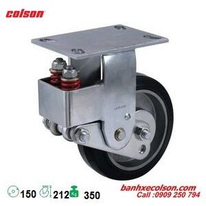 Bánh xe cao su lò xo giảm xóc càng cố định d150 SB-6508-648 banhxecolson.com