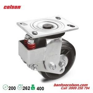 Bánh xe đẩy cao su xoay 200mm có lò xo giảm sốc SB-8509-648 banhxecolson.com