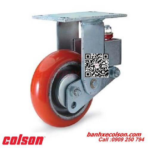Bánh xe đẩy pu giảm xóc Colson Caster cố định banhxecolson.com