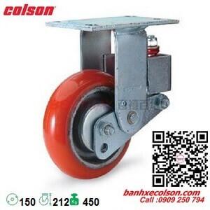 Bánh xe pu giảm sốc Colson Mỹ phi 150 càng tĩnh SB-6508-948 banhxecolson.com