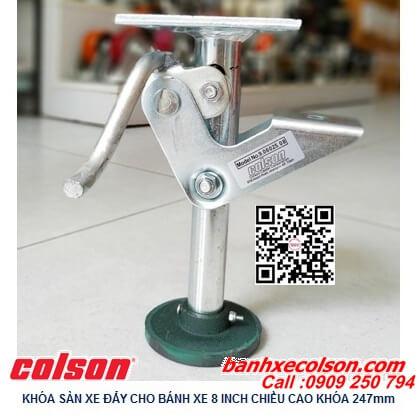 Hình thực tế Khóa đội xe đẩy Colson Floor Lock chiều cao khi đội 247mm 6025x8 banhxecolson.com
