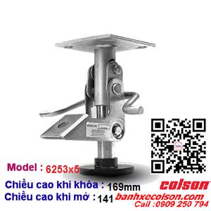Khóa đạp nâng xe đẩy Colson Mỹ chiều cao khi khóa 169mm 6253x5 banhxecolson.com