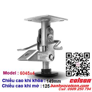 Khóa sàn cho xe đẩy hàng Colson Mỹ có chiều cao khóa 149mm 6045x4 banhxecolson.com