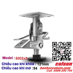 Khóa sàn xe đẩy Colson ( floor lock ) chiều cao khóa 121mm 6002x3 banhxecolson.com