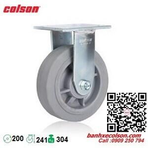 Bánh xe cao su chịu tải 304kg cố định phi 200x51mm 4-8198-459 banhxecolson.com