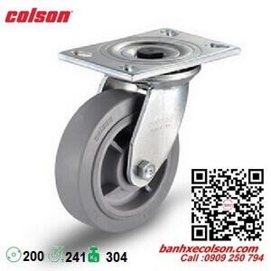 Bánh xe cao su d200 càng thép xoay chịu lực 304kg 4-8199-459 banhxecolson.com
