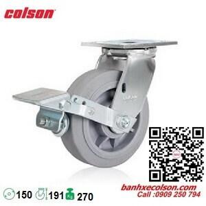 Bánh xe cao su khóa đạp phi 150x51 Colson Mỹ 4-6109-459BRK1 banhxecolson.com