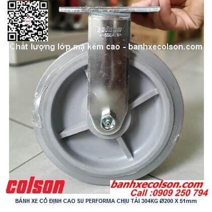 Hình thực tế bánh xe cao su chịu tải 304kg cố định phi 200x51mm 4-8198-459 banhxecolson.com