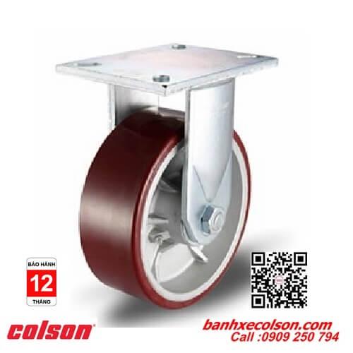 Bánh xe đẩy chịu lực PU-AL càng cố định dày 9.5mm banhxecolson.com