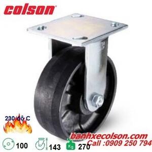 Bánh xe nhựa chịu nhiệt cố định phi 100x51mm 4-4108-839HT banhxecolson.com